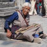 A 'holy lady' near Swayambhunath