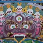Nepalese painting in a gallery in Thamel, Kathmandu