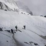On the glacier near Mera La