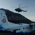 Army helicopter lands in Lukla