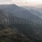 Helicopter flight back to Kathmandu